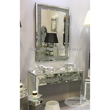 Milano Crushed Diamond Wall Mirror