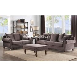 Canterbury 3+2 Sofas [ Grey ]