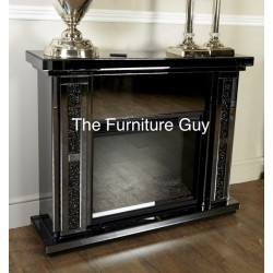 Milano Diamond Surround & Fire [Smoked Glass]