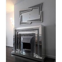 Crush Diamond Fire Surround & Fire