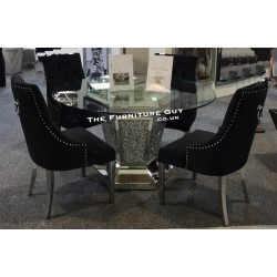 Crush Diamond Dining Table [Round 135] cm