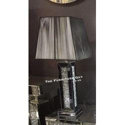 Crystal Mirror Table Lamp (Block)