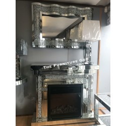 Crystal Mirror Surround & Fire