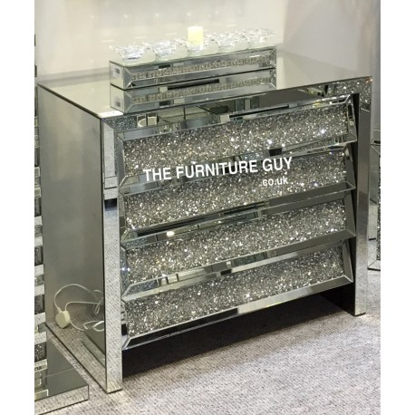 Crushed Diamond Wide Chest Drawers