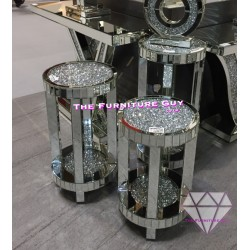 Crush Diamond  Round Side Table
