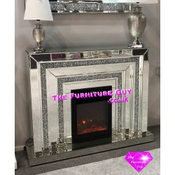Crush Diamond Surround & Electrc Fire
