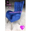 Lion Back Bucket Dining Chair [BLUE]