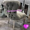 Lion Button Back Dining Chair [GREY]