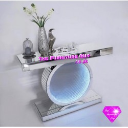 INFINITY-LED Crush Diamond Round Console