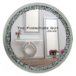 Crush Diamond Round Mirror [Large]