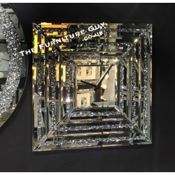 Large Crushed Diamond   Square Wall Clock