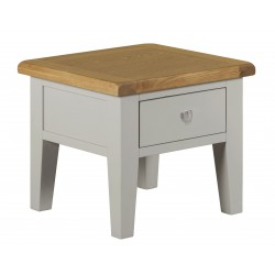 Lucca Oak Lamp Table [Grey/Natural]