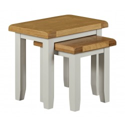 Lucca Oak Nest Tables [Grey/Natural]