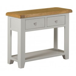 Lucca Oak Console Table [Grey/Natural]