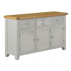 Lucca Oak Large Sideboard [Grey/Natural]