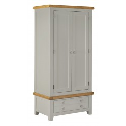 Lucca Oak 2 Door Robe [Grey/Natural]
