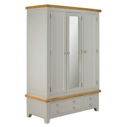 Lucca Oak Large Wardrobe [Grey/Natural]