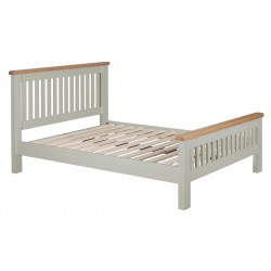 Lucca Oak Sleigh Bed[Grey/Natural]