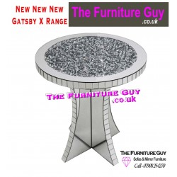 Gatsby X Mirrored Round side Table