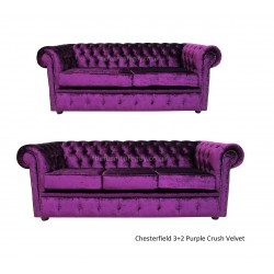 Chesterfield 3+2 Purple Crush Velvet