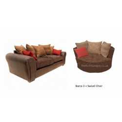 Barcelona 3 Seater & Swivel Chair