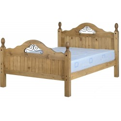 Corona Scroll Double Bed