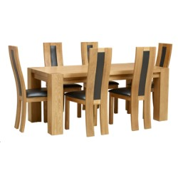 Zeus Dining Tabl 6 Chairs
