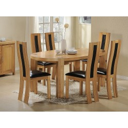 Zeus Oval Dining 6 X Chairs Oak