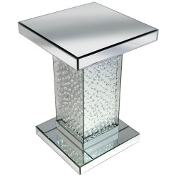 Floating Crystals Mirrored Pedestal