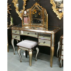 Venezia Antique Gold Dresser