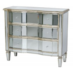 Venezia Mirror Chest Antique Silver